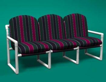 Item 251: Modern 3 Seat Sofa