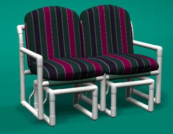 Modern Style Pvc Patio Furniture With Cushions