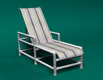 Item: 130: Sling Chaise Lounge